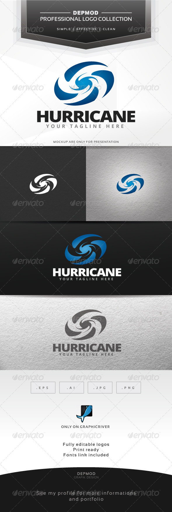 GraphicRiver Hurricane Logo 7014192