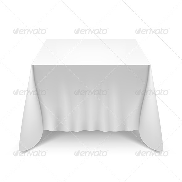 GraphicRiver Table with White Cloth 7014278