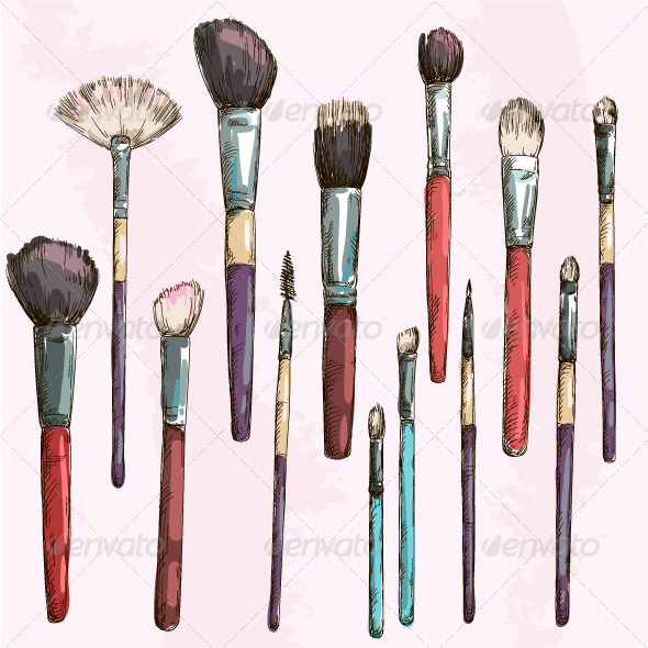 GraphicRiver Make Up Brushes Collection 7014331