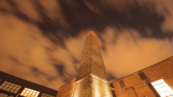 Huge Tower Smoke Stack