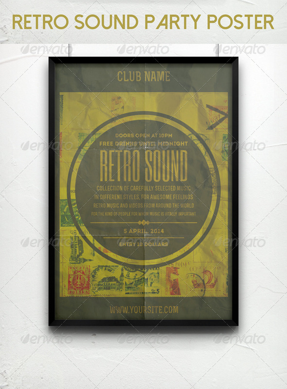 GraphicRiver Retro Sound Party Poster 7014559
