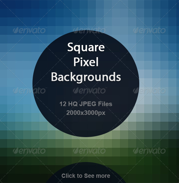 GraphicRiver Square Pixel Backgrounds 7014590