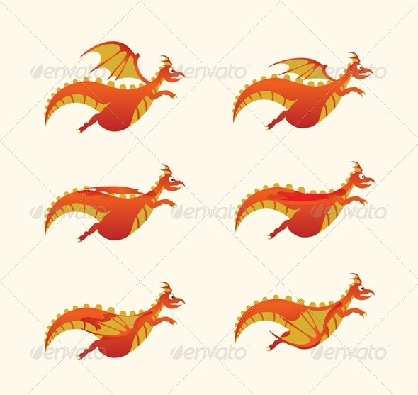 GraphicRiver Flying Dragon 7014653