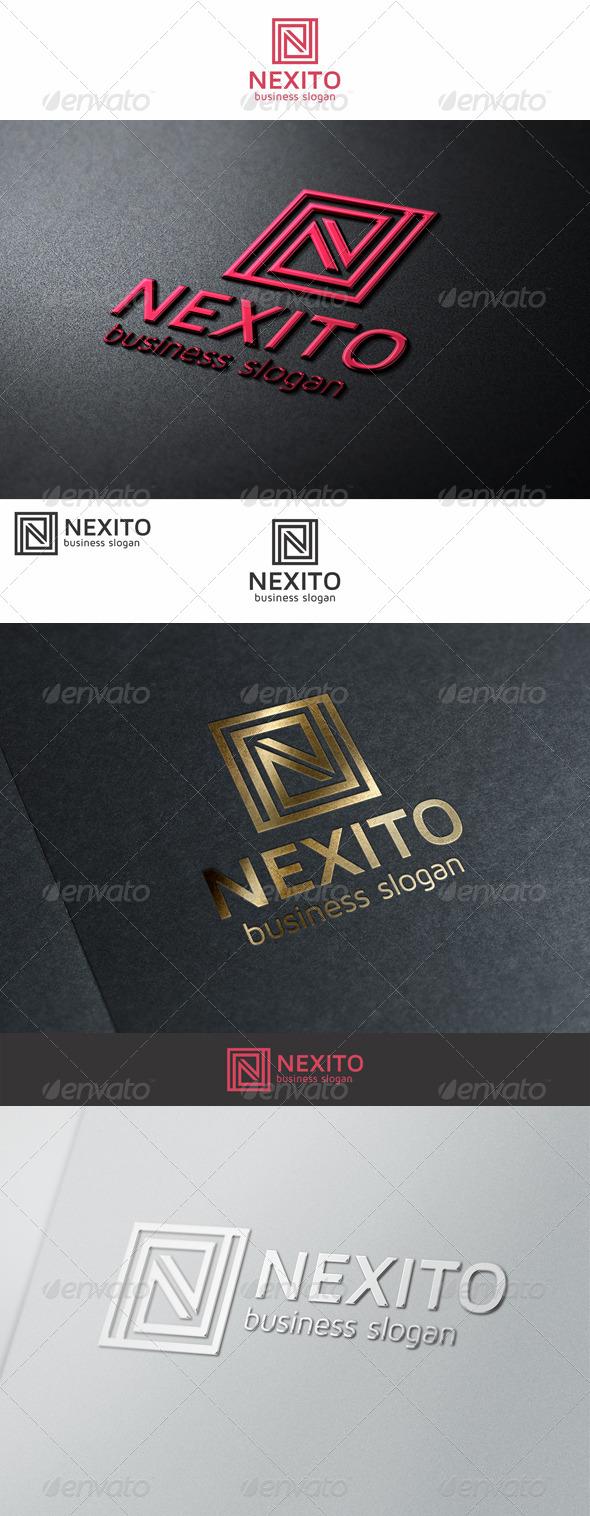 Nexito N Monogram Logo - Letters Logo Templates