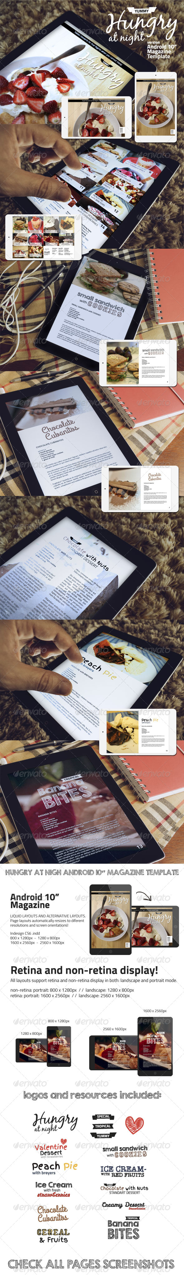 GraphicRiver Hungry At Night Android Magazine Template 7014677