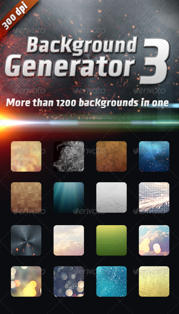GraphicRiver Background Generator 3 1200 Backgrounds in 1 7014801