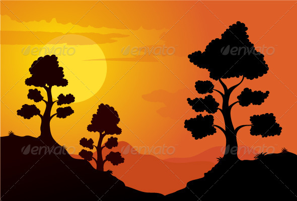 GraphicRiver Mountain Sunset 7014827