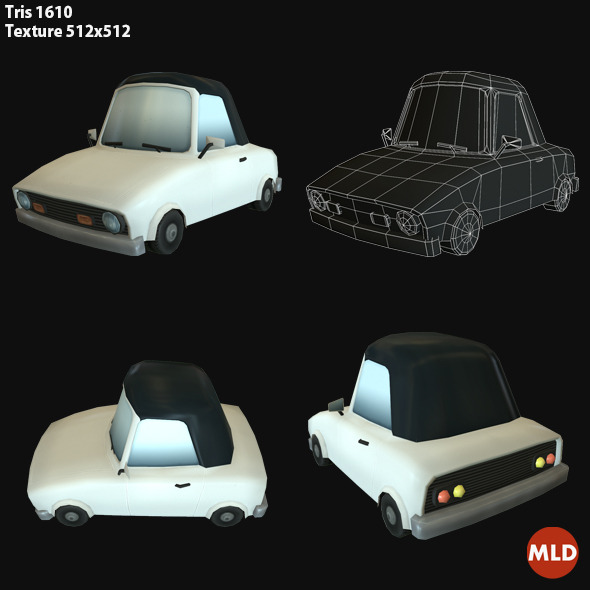 3DOcean Low Poly Sport Car 7015260