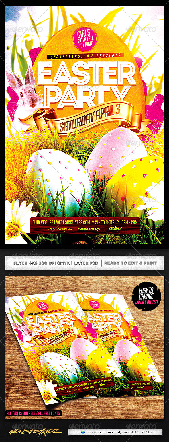 GraphicRiver Easter Flyer Template 7016051