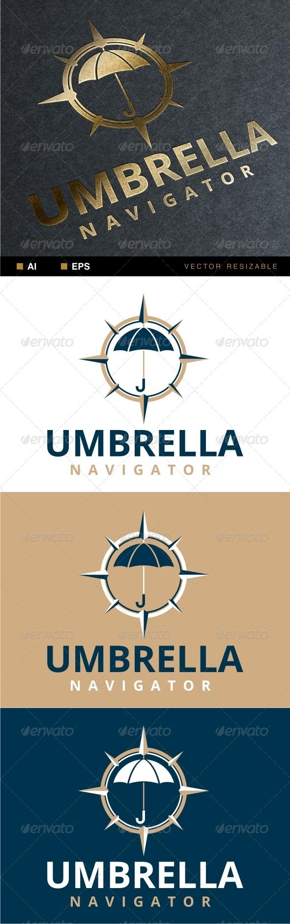 GraphicRiver Umbrella Navigator Logo 7016093