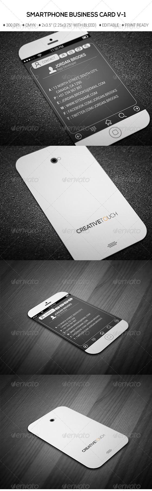 GraphicRiver Smartphone Business Card V-1 7016201