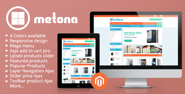 01 home. large preview - Metona - Responsive Magento Theme