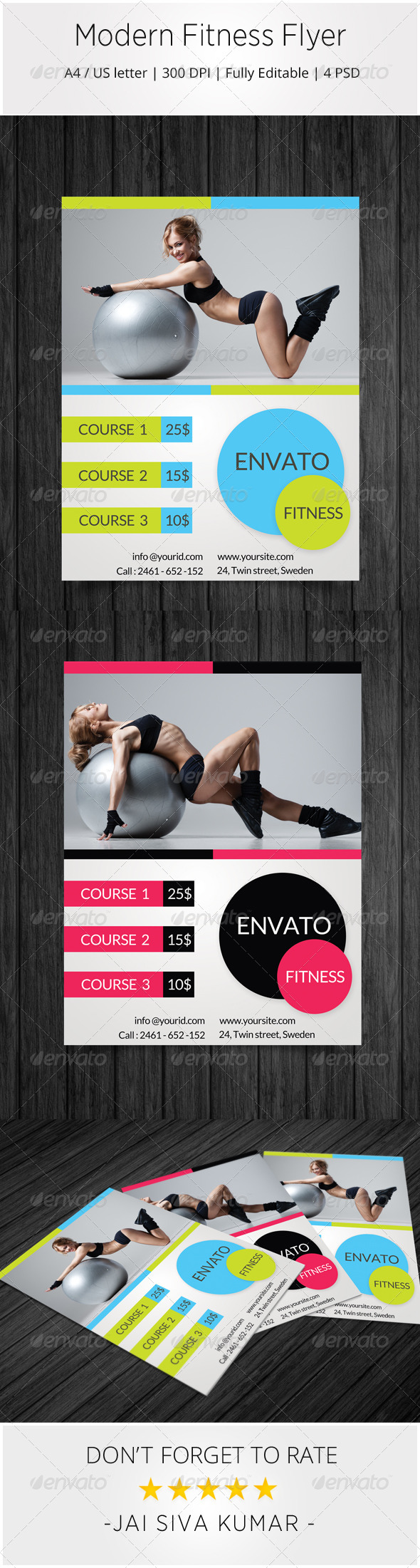 GraphicRiver Modern Fitness Flyer 7016222