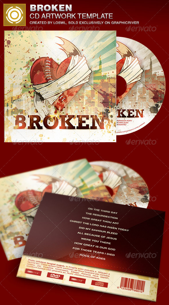 GraphicRiver Broken CD Artwork Template 7016240