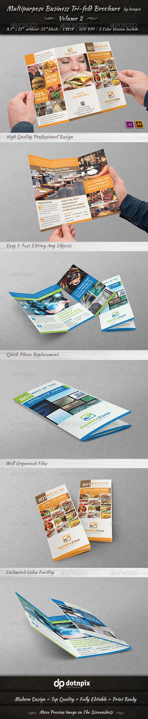 Multipurpose Business Tri-Fold Brochure | Volume 2 - Corporate Brochures