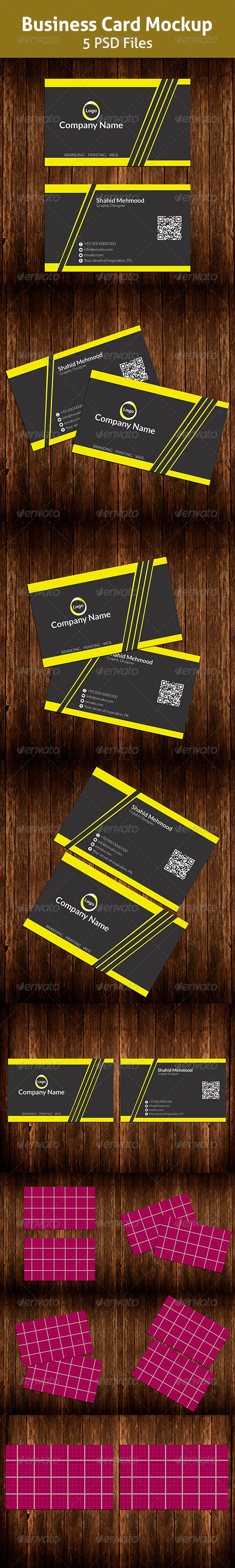 GraphicRiver Business Card Mockup 7016429