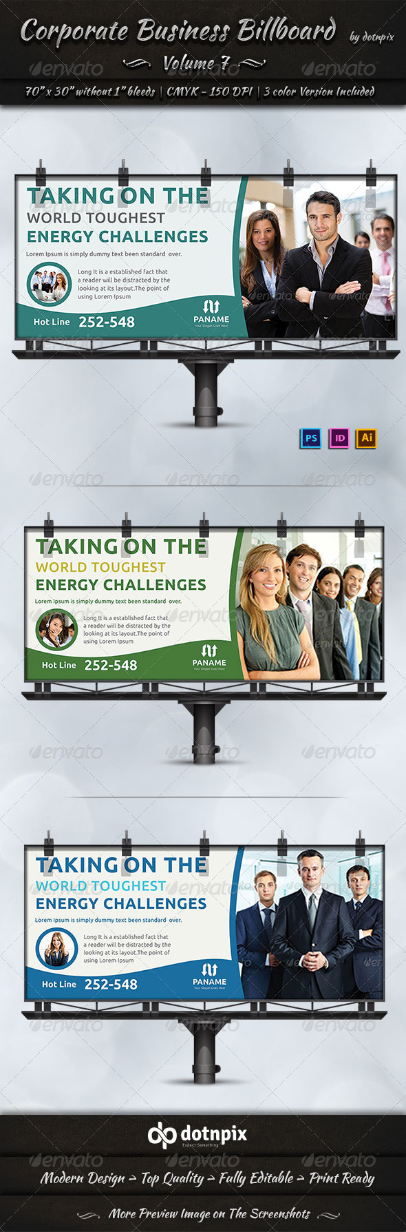 Corporate Business Billboard | Volume 7 - Signage Print Templates