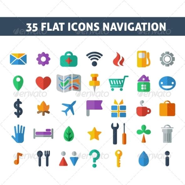 GraphicRiver Navigation Icons 7016791