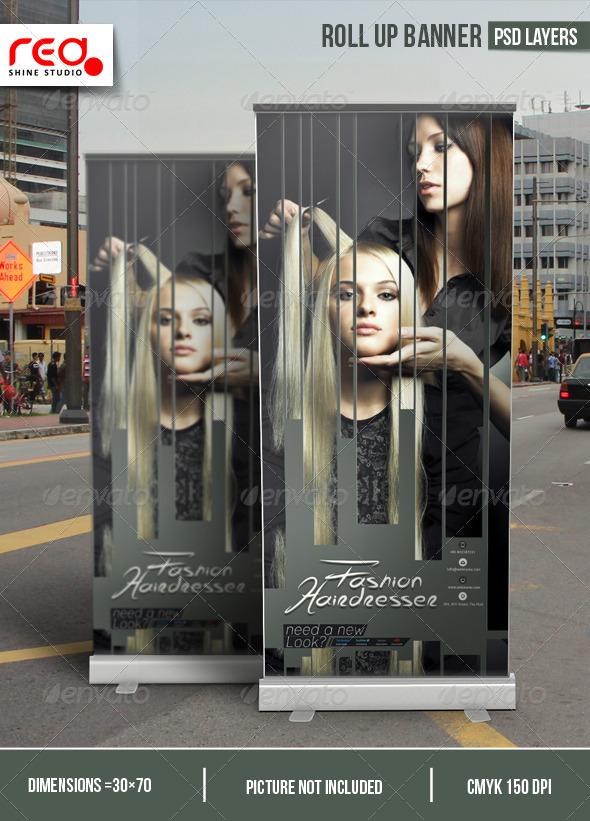GraphicRiver Hairdresser Salon Promotion Roll-up Banner 7016951