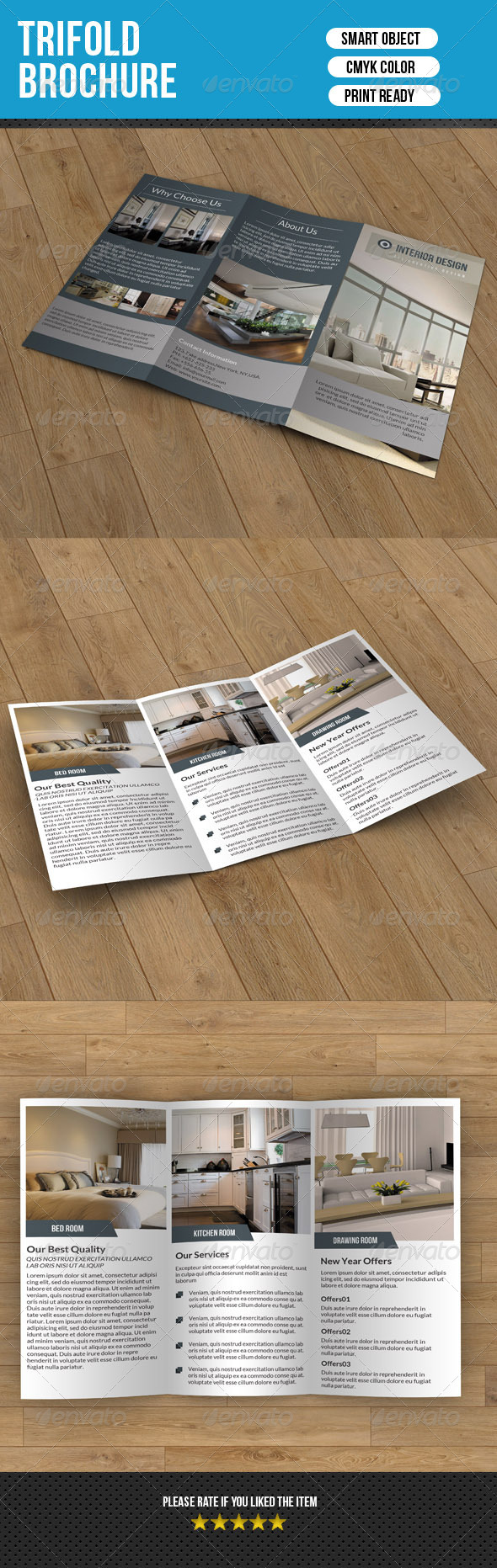 Minimal Trifold-Interior Design V3 - Corporate Brochures