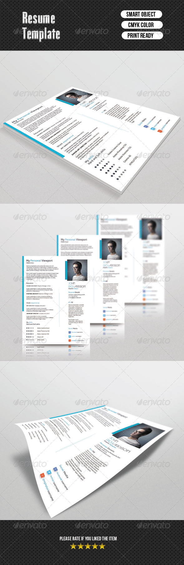 GraphicRiver 1 Page Resume 7016983