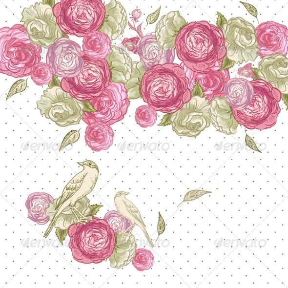 GraphicRiver Rose Background 7017314