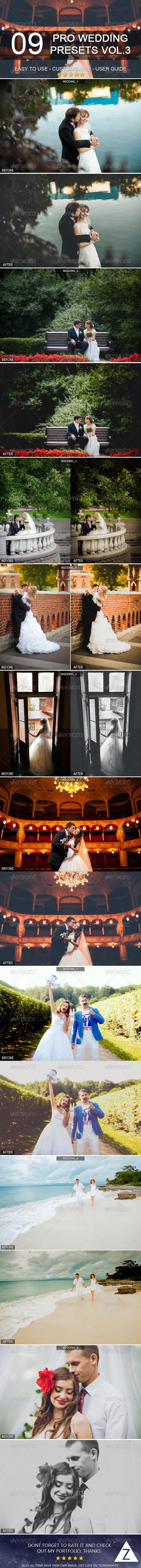 GraphicRiver 9 Pro Wedding Presets vol.3 7017601