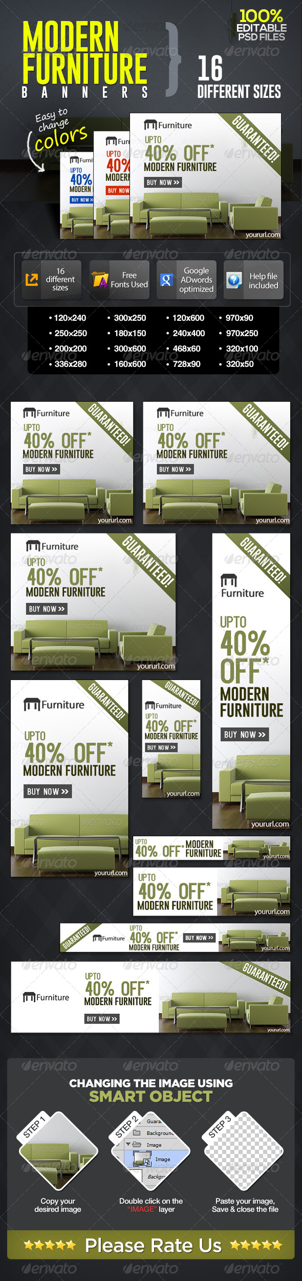 GraphicRiver Modern Furniture Sale Banners 7017800