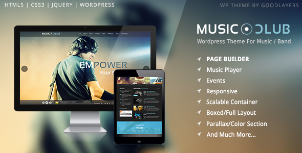 Music Club - Music/Band/Club/Party Wordpress Theme - Music and Bands Entertainment