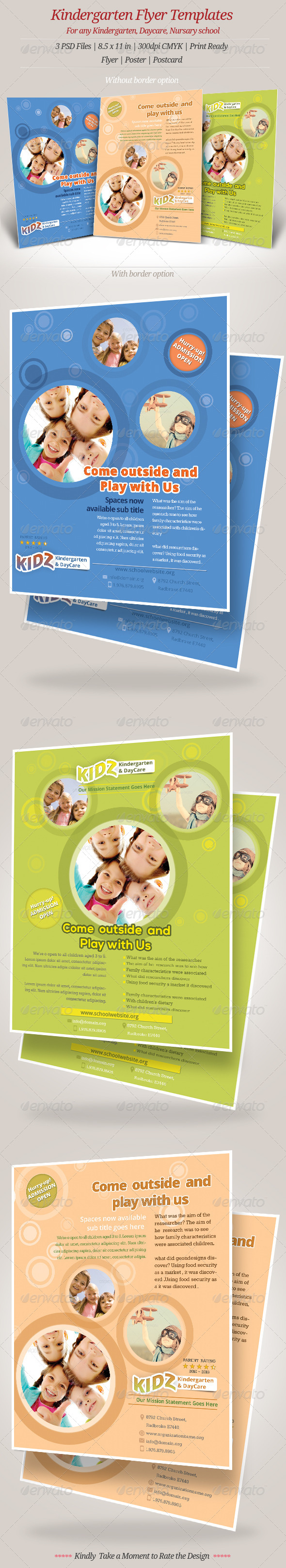 GraphicRiver Kindergarten Daycare Flyer Templates 6972717