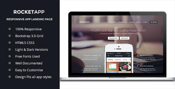 Rocket App - Responsive App Landing Page
