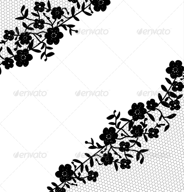 GraphicRiver Lace Fabric Background 7017953