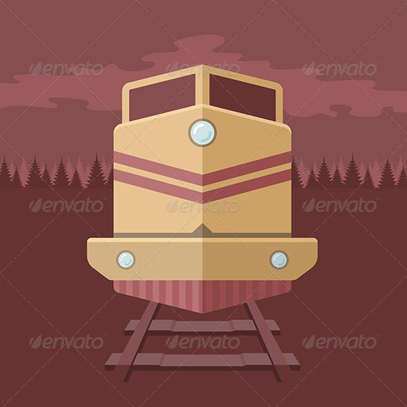 GraphicRiver Flat Train Illustration 7017960