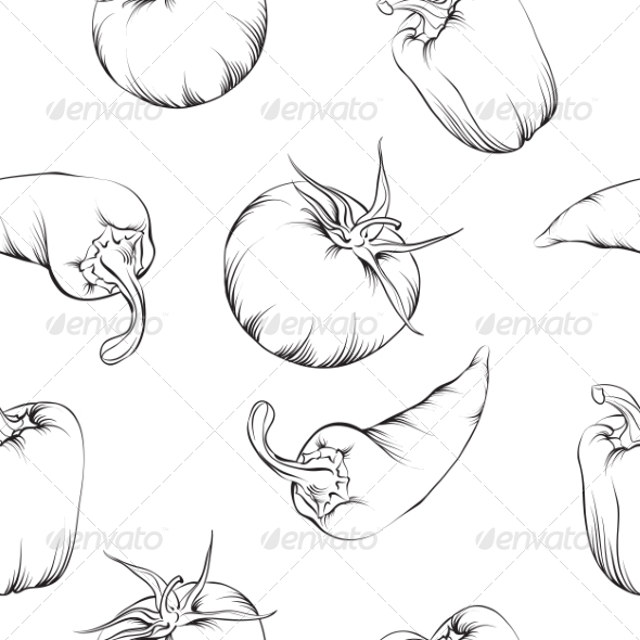 GraphicRiver Vegetable Pattern 7018073