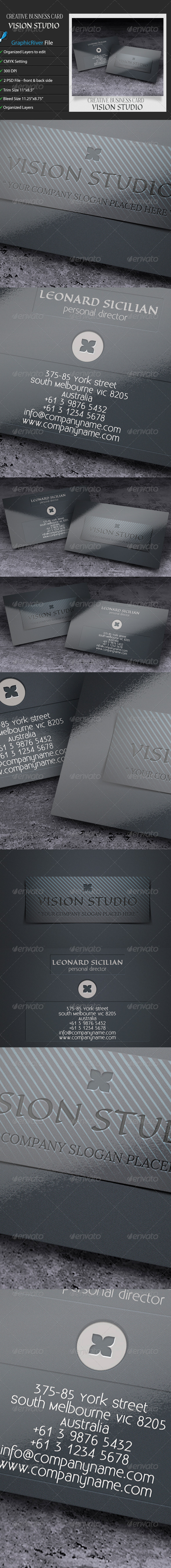 GraphicRiver Creative Business Card VisionStudio 7018464