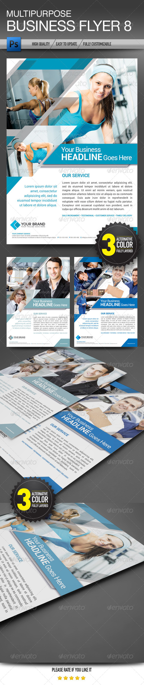 GraphicRiver Multipurpose Business Flyer 8 7018512