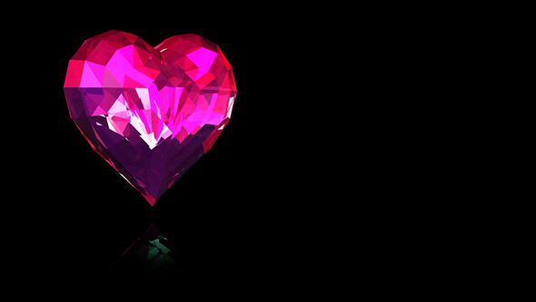 VideoHive Ruby Heart Spinning 7018657