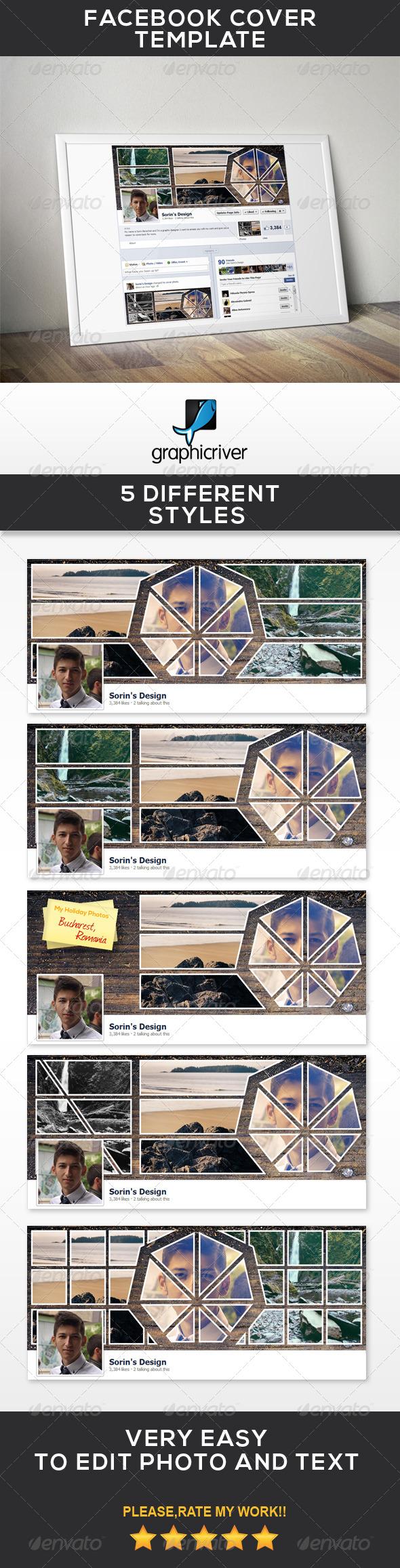 GraphicRiver Facebook Cover Template Vol.I 7010987