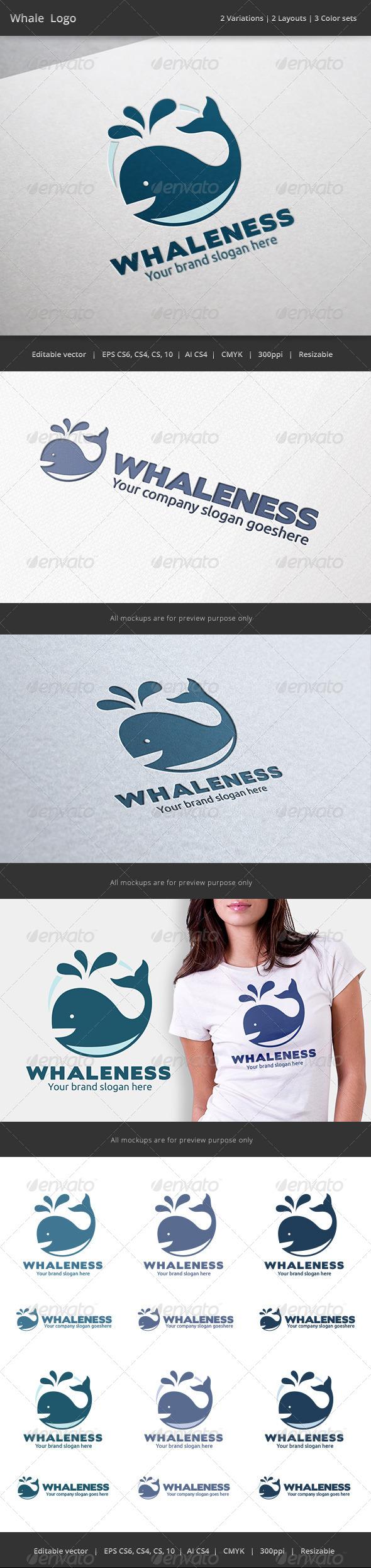GraphicRiver Whale Logo 7018802