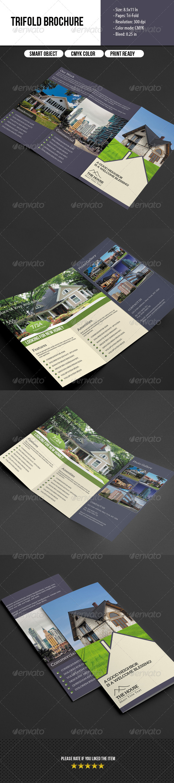 GraphicRiver Trifold Brochure- Real Estate 7018822