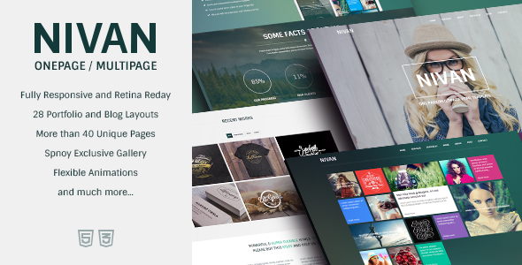 Nivan - One Page/Multi Page HTML Template - Creative Site Templates