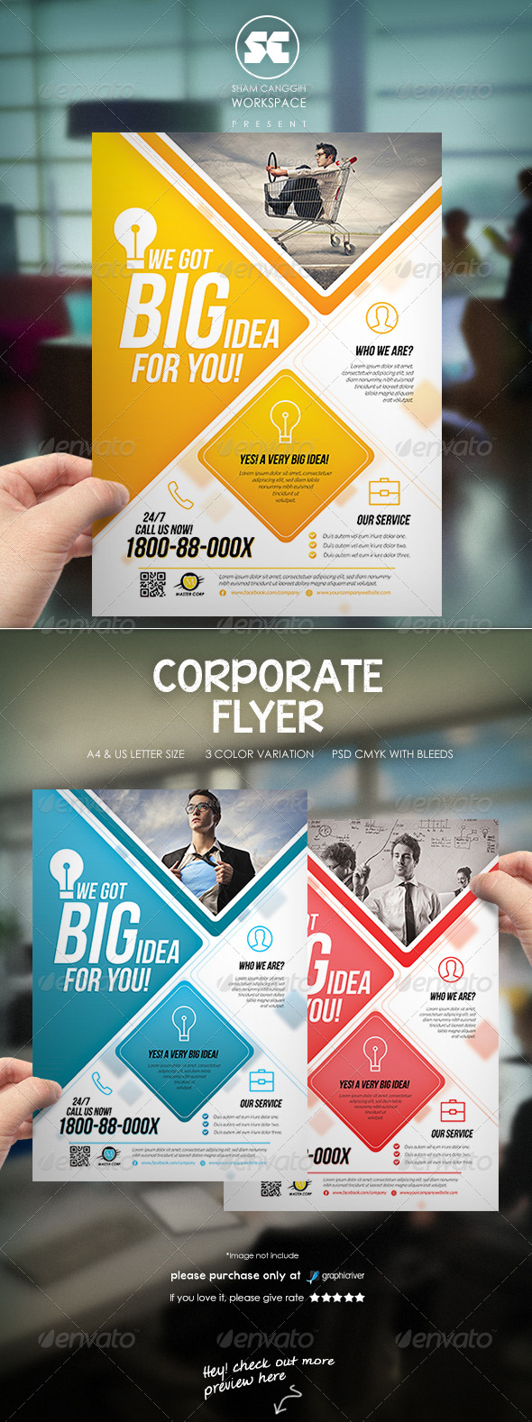 GraphicRiver Modern Corporate Flyer Magazine Ads 7018856
