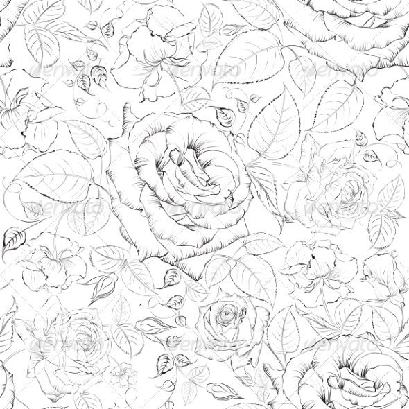 GraphicRiver Rose Seamless 7018908