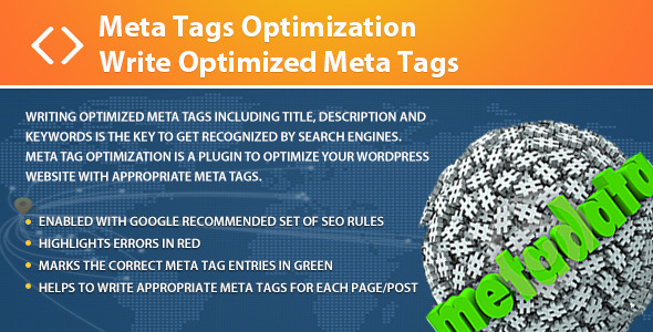 Meta Tags Optimization - Write Optimized Meta Tags - CodeCanyon Item for Sale