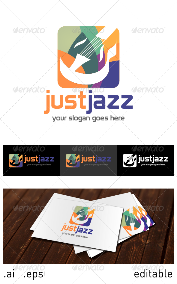 GraphicRiver Just Jazz Logo Template 6914433