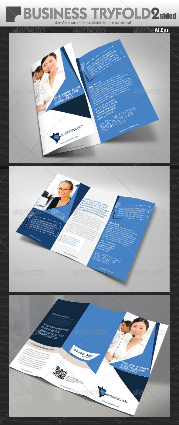 GraphicRiver Business Tri Fold Brochure 7019346