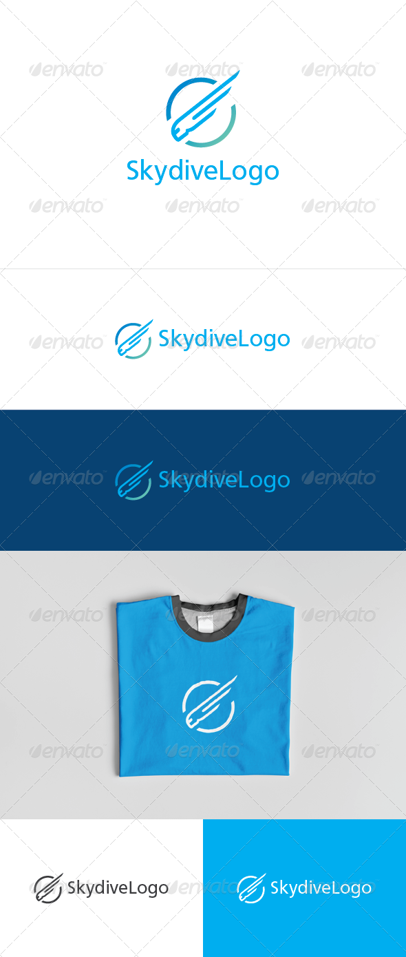 GraphicRiver Skydive Logo 7019396