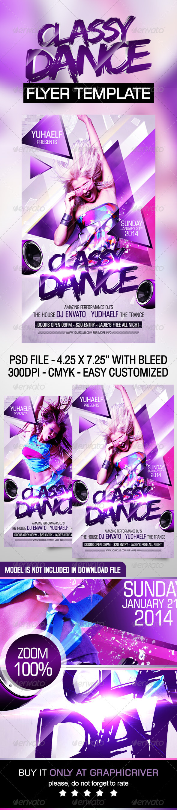 GraphicRiver Classy Dance Flyer Template 6977957