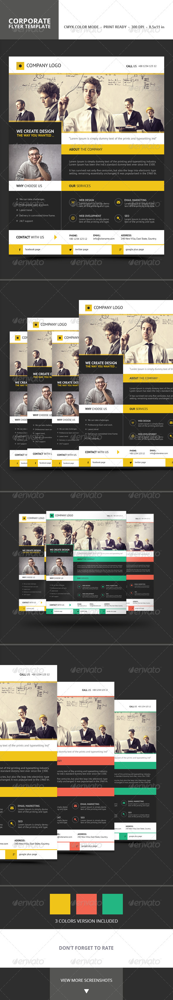 GraphicRiver Corporate Flyer Template 7019552