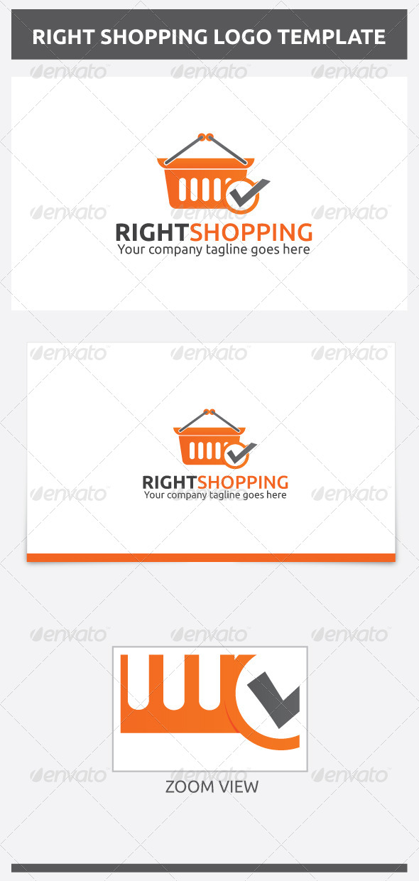 GraphicRiver Right Shopping Logo 7019614